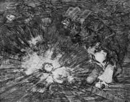 """Франсиско Гойя. Серия """"Бедствия войны"""", лист 80: Воскреснет ли она?"""