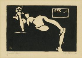 Fritz Bleuil. Reclining Nude