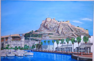 "Дмитрий Еременко. View of the fortress ""Santa Barbara"". Alicante, Spain"