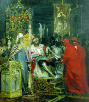 Генрих Ипполитович Семирадский. Александр Невский принимает папских легатов