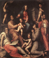 Якопо Понтормо. Мадонна с младенцем и святыми