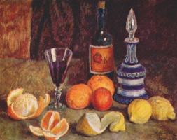 Илья Иванович Машков. Натюрморт с апельсинами, лимонами и вином