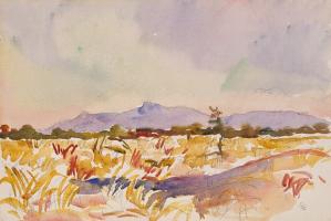 Giovanni Giacometti. The landscape at du MIDI