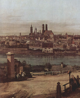 Giovanni Antonio Canal (Canaletto). View of Munich, the bridge gate, the fragment