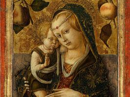 Карло Кривелли. Мадонна с младенцем. Фрагмент