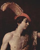 Гвидо Рени. Давид с головой Голиафа, фрагмент