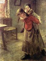 Фриц фон Уде. Старшая сестра