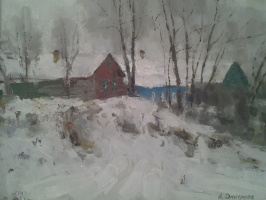 Зима серебряная