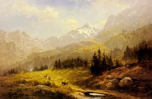 Бенджамин Уильямс Лидер. Венгенские Альпы утро в Швейцарии