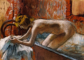Edgar Degas. Woman emerging from the bath