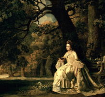 George Stubbs. Lady reading in the Park