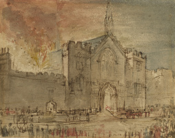 Джон Констебл. Пожар в здании парламента