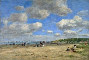 Эжен Буден. Пляж в Туржевиль лес Саблонс