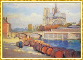 Susan Watkins. The Seine and Notre Dame