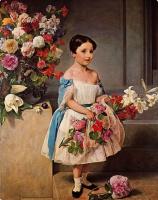 Франческо Айец. Девочка с цветами