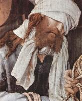Маттиас Грюневальд. Осмеяние Христа, деталь: Христос
