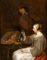 Герард Терборх (тер Борх). Молодая голландская женщина, пьющая вино