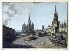 Федор Яковлевич Алексеев. Собор Василия Блаженного и Спасские ворота