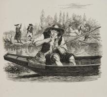 Жан Иньяс Изидор (Жерар) Гранвиль. Рыбак и маленькая рыбешка