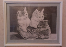 Bogdan Nikolaevich Doroshenko. Kittens and shoe.