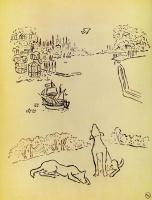 """Михаил Федорович Ларионов. Собаки на берегу гавани. Из альбома """"Путешествие в Турцию"""""""