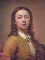 Антон Рафаэль Менгс. Автопортрет в красном плаще