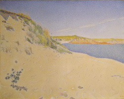 Paul Signac. Sandy beach at Saint-Briac