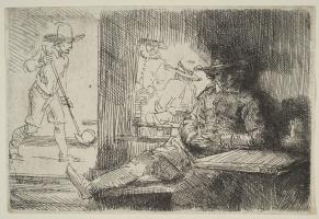 Рембрандт Харменс ван Рейн. Игрок в гольф