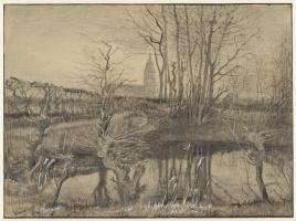 Винсент Ван Гог. Пейзаж с зимородком