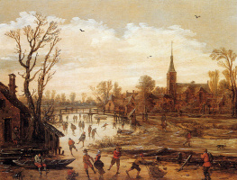 Даниэль ван Хейл. Зимний пейзаж.