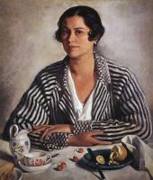 Зинаида Евгеньевна Серебрякова. Портрет М. А. Тройницкой