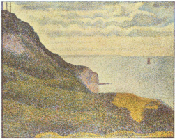 Жорж Сёра. Вышки и вид на море в Пор-ан-Бессене