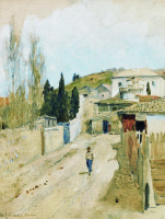 Isaac Levitan. Street in Yalta