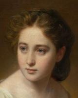 Франц Ксавер Винтерхальтер. Портрет молодой женщины. Фрагмент