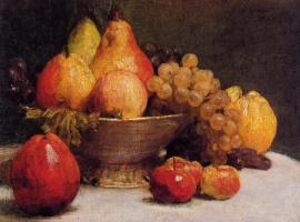 Анри Фантен-Латур. Чаша с фруктами