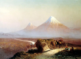 Ilya Nikolayevich Zankovsky. In the mountains. The Ararat