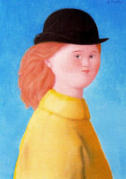 Антонио Буэно. Девушка в черной шляпе