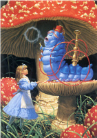 Грег Хильдебрандт. Девочка в синем платье