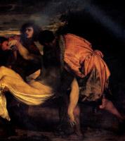 Тициан Вечеллио. Положение во гроб. Фрагмент