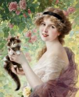 Эмиль Вернон. Ее маленький котенок. 1919