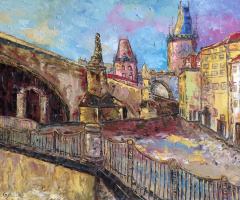 Gala Mell. Prague in the spring. m / x