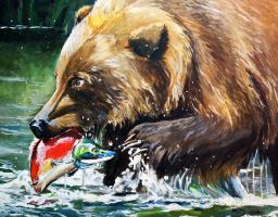 Love Semenkova. Brown bear hunting