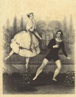 Альфред Эдвард Шалон. Танцевальная пара Мария Тальони и А. Гуэрра