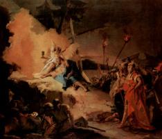 Джованни Доменико Тьеполо. Христос в Гефсиманском саду и ангел с бокалом