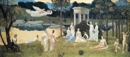 Pierre Cecil Puvi de Chavannes. The sacred wood, cherished by the arts and the muses