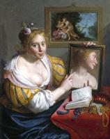 Паулюс Морелсе. The lady with the mirror