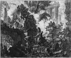 Джованни Баттиста Пиранези. Руины со статуей Афины Паллады