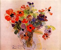 Raoul Dufy. Anemones