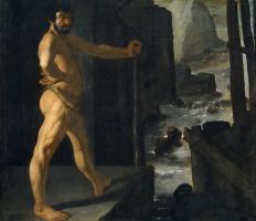 Francisco de Zurbaran. Hercules blocked the river Alpheus
