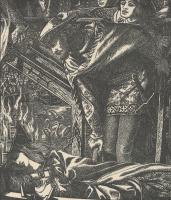 Данте Габриэль Россетти. Леди Шалотт. Иллюстрация к поэзии Теннисона